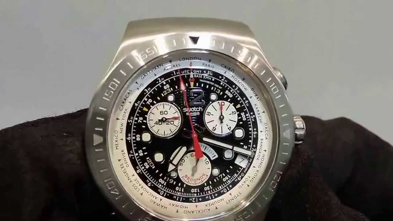 da5da1d63dd How to reset the chronograph hands on a Swatch chrono - YouTube