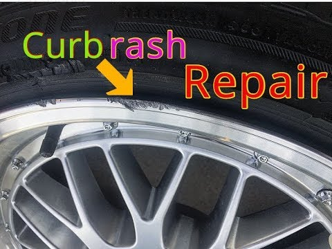 how to repair wheels with curb rash youtube. Black Bedroom Furniture Sets. Home Design Ideas
