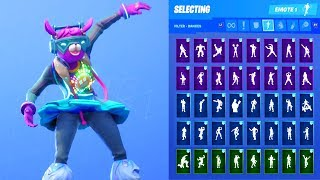 DJ BOP SKIN SHOWCASE WITH ALL FORTNITE DANCES & EMOTES