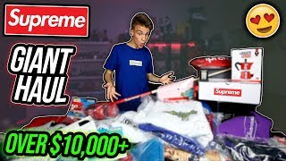 One of my Biggest Supreme Hauls EVER! ($10,000+ Unboxing!)