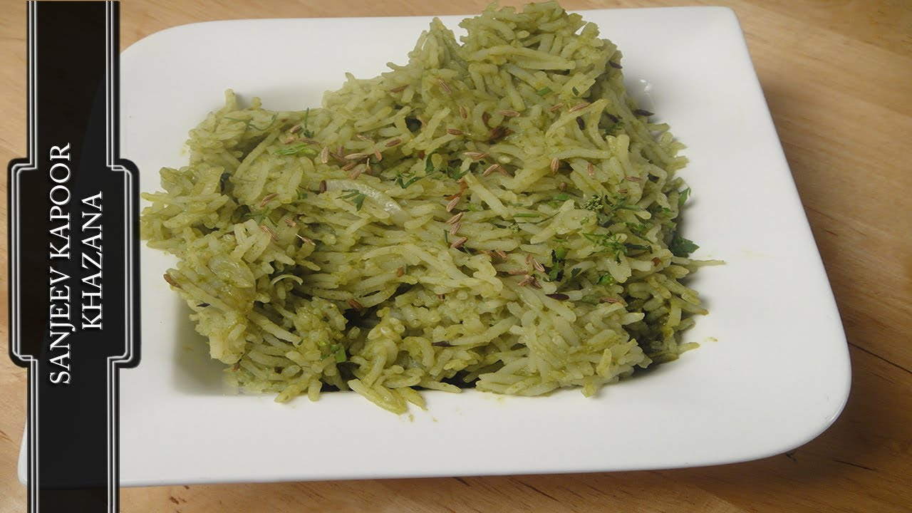 Spinach rice palak chawal youtube forumfinder Image collections