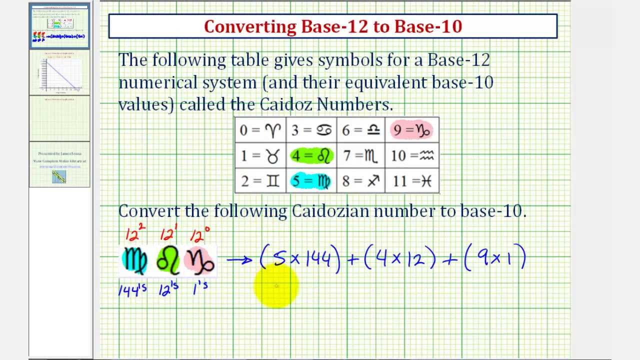 Ex Convert Base 12 To 10
