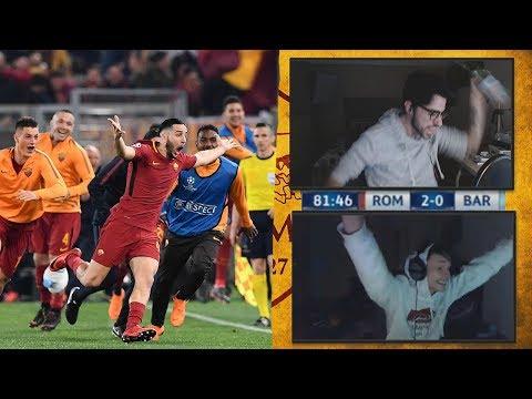 REACTION A ROMA - BARCELLONA 3-0 Con ZANO!