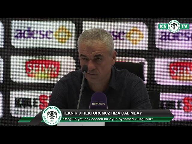 Teknik Direktörümüz Rıza Çalımbay'ın Fenerbahçe maçı sonrası açıklamaları