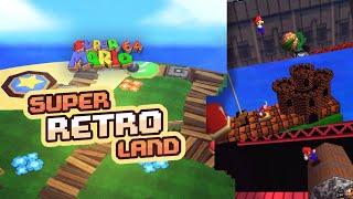 Super Retro Land | Super Mario 64 Retro Romhack