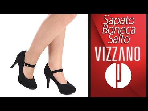 8b8fb4bfe1 Sapato Boneca Salto Feminino Vizzano - 6030477612 - YouTube