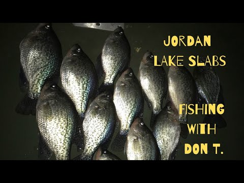 NIGHT TIME CRAPPIE FISHING ON JORDAN LAKE WITH DON T.