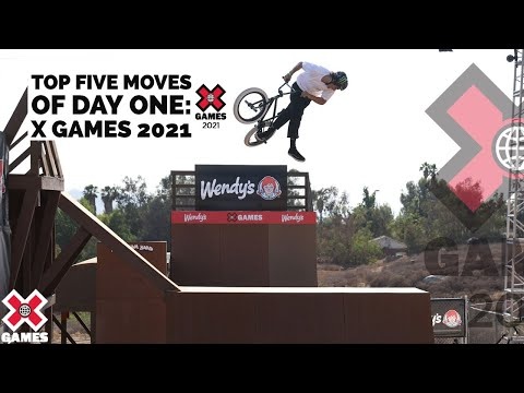 TOP 5 BMX MOVES OF DAY 1: Mike Varga, Kevin Peraza | X Games 2021