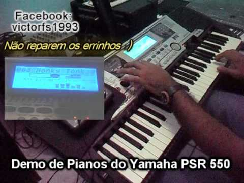 yamaha psr 550 demo de pianos victor o fenomeno das. Black Bedroom Furniture Sets. Home Design Ideas
