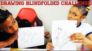 DRAWING BLINDFOLDED CHALLENGE!!!
