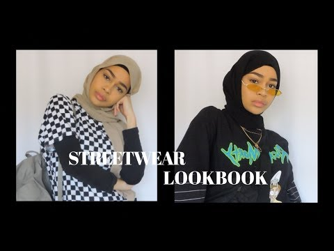 STREETWEAR LOOKBOOK | hijabi streetwear - YouTube