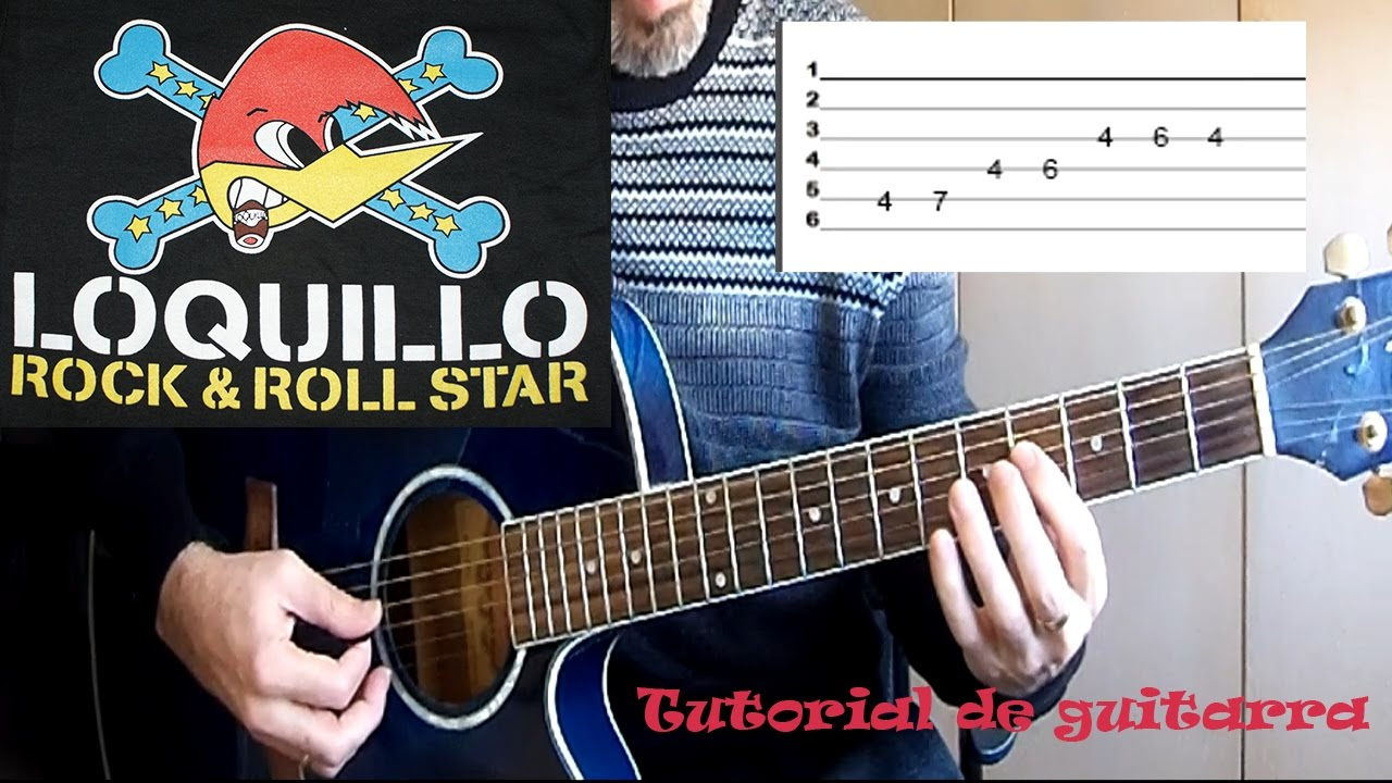 Como Tocar Rock Roll Star Loquillo Fácil Youtube