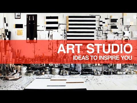 50+ Art Studio Ideas From Artists Around The World •Creative Inspirations