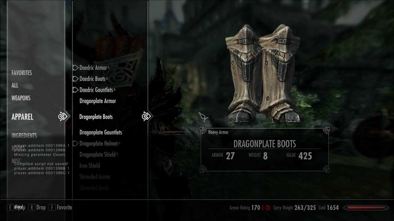 <b>Skyrim</b>: How to get Daedric Armour+Weapons (<b>cheat codes</b>) - YouTube