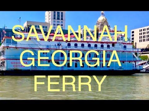 🔴 SAVANNAH GEORGIA FERRY ⛴ TO HUTCHINSON ISLAND 🌴 #vanlife #travel #rvlife #explore #roadtrip