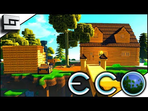 Colonial Starter House! ECO Gameplay - Survival Building Game