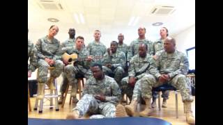 "USAREUR Chorus Shout Out ""Use Somebody"""