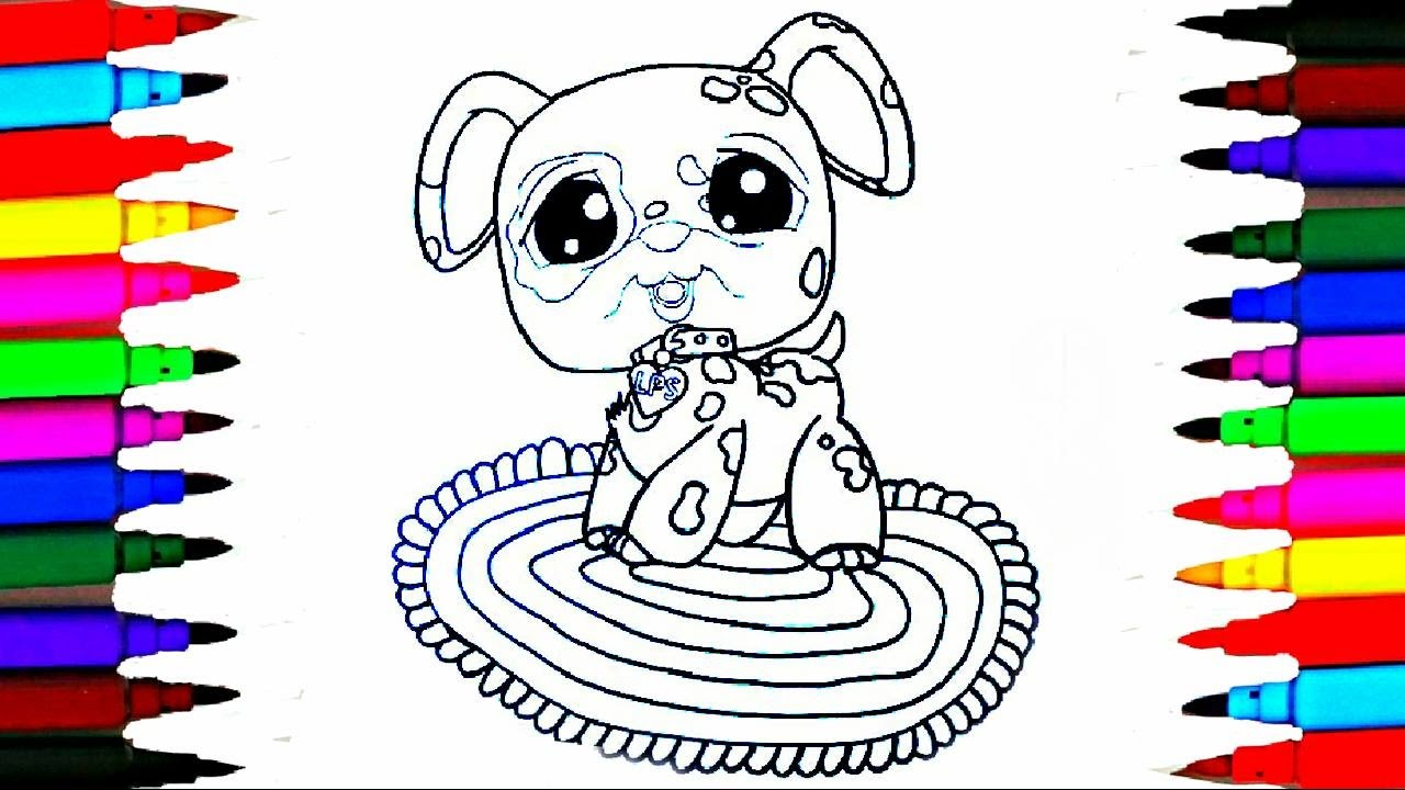 coloring pages littlest pet shop l lps drawing pages l learn colors for kids by coloring