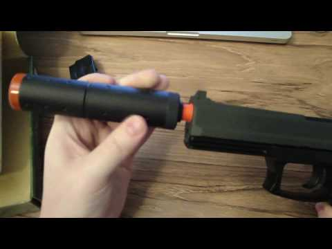 Unboxing/ Test- MK23 Navy Seal Spring Pistol Airsoft Gun