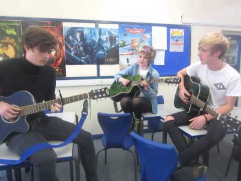 """Portsmouth College students rehearse """"I See Fire"""""""