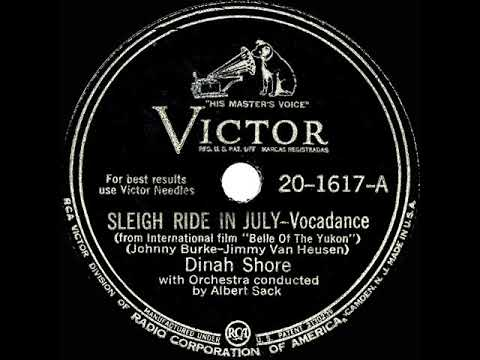dinah shore sleigh ride in july