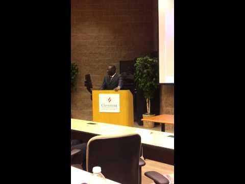Samake speaks at Claremont Graduate School