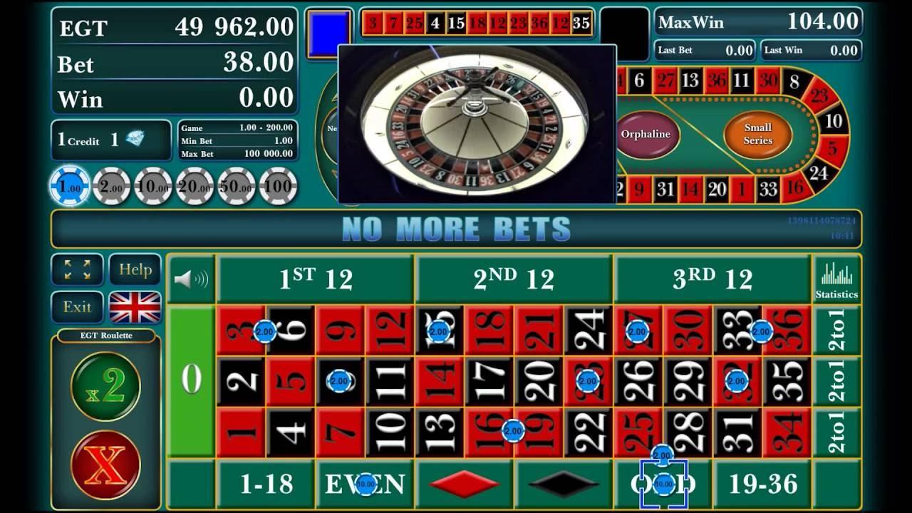 Spiele European Roulette (EGT) - Video Slots Online