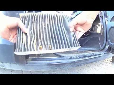 Renault scenic 3 wymiana filtra kabinowego, klimatyzacja, nawiew, wentylator