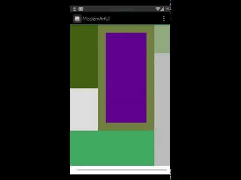 Modern Art UI app demo