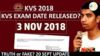 KVS Exam on 3 Nov 2018 - True or Fake? | With Proof by Mentors 36 KVS 2018