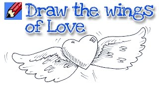 How to draw the wings of love - Real Easy