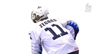 Highlights include zegras' assists, shots & passes during the 2019 iihf u18 championship in sweden. zegras and team usa won bronze medal. look out for #1...