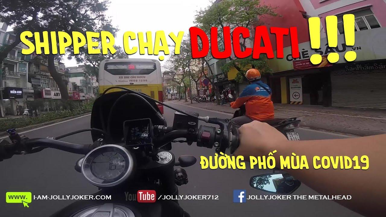 Shipper chạy Ducati – Giao hàng mùa dịch corona | Delivering helmet on a Ducati in Vietnam