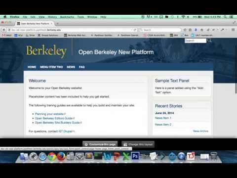 Open Berkeley: New platform features