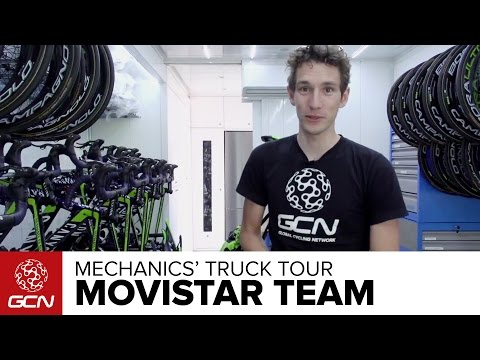 Movistar Team Mechanics' Truck Tour | Tour De France 2015