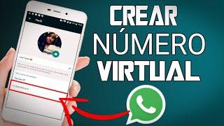 COMO USAR WHATSAPP SIN NUMERO DE TELEFONO/CREAR UN NUMERO VIRTUAL 2018.
