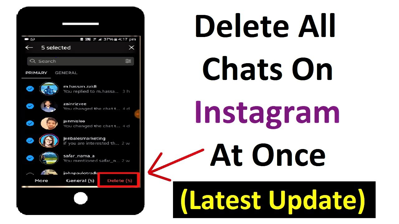 How to delete all instagram chats at once - Clear all DMs in