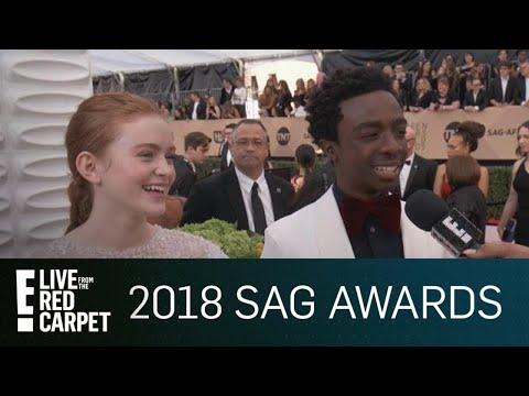 Sadie Sink & Caleb McLaughin Continue Fake Plot Twist | E! Live from the Red Carpet