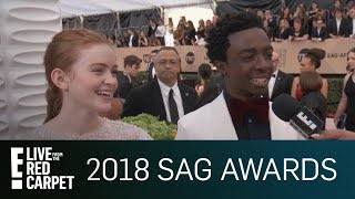 Sadie Sink & Caleb McLaughin Continue Fake Plot Twist | E! Red Carpet & Award Shows