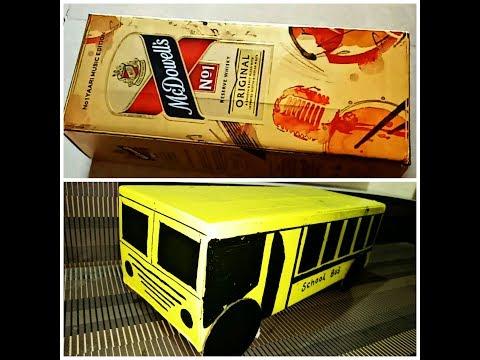 Best out of Waste School Bus   Recycle Box Cardboard DIY