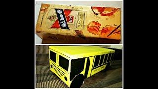 Best out of Waste School Bus | Recycle Box Cardboard DIY