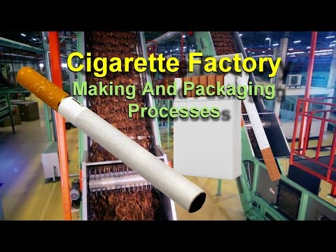 Cigarette Factory - Making And Packaging Processes of NAVY (