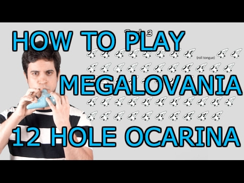 Megalovania  Undertale  12 Hole Ocarina Tutorial