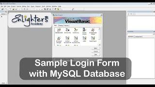 Visual Basic 6.0 - Sample Login Form with MySQL Database