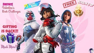 "Fortnite Valentine Gifting Back FREE Season 8 BP & more || SUPPORT A CREATOR ""sidlegendyt"" 