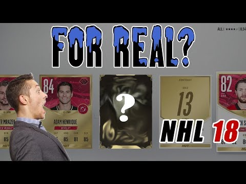 CRAZIEST PACK LUCK! HUGE ICE PLAYER PULLS + 92 LEGEND PULL!! NHL 18 Ultimate Team Pack Opening