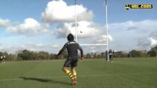 Kangaroos field goal challenge.