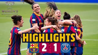 🏆 HIGHLIGHTS | Barça Women 2-1 PSG | Into the Champions League final!