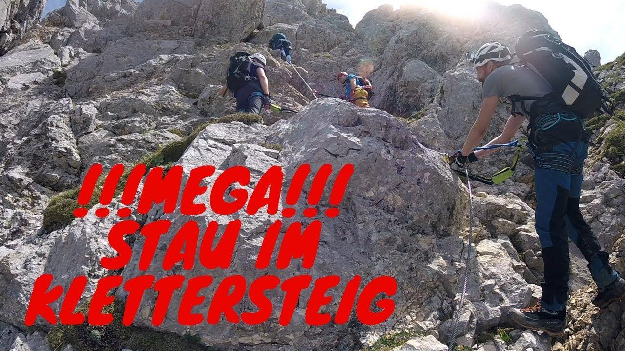 Friedberger Klettersteig : Mega stau am friedberger klettersteig wanderung rote flüh 2108 m