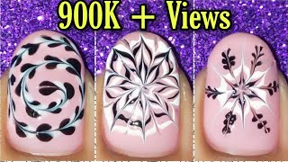 New nail art using dotting tool | nail art for short nails